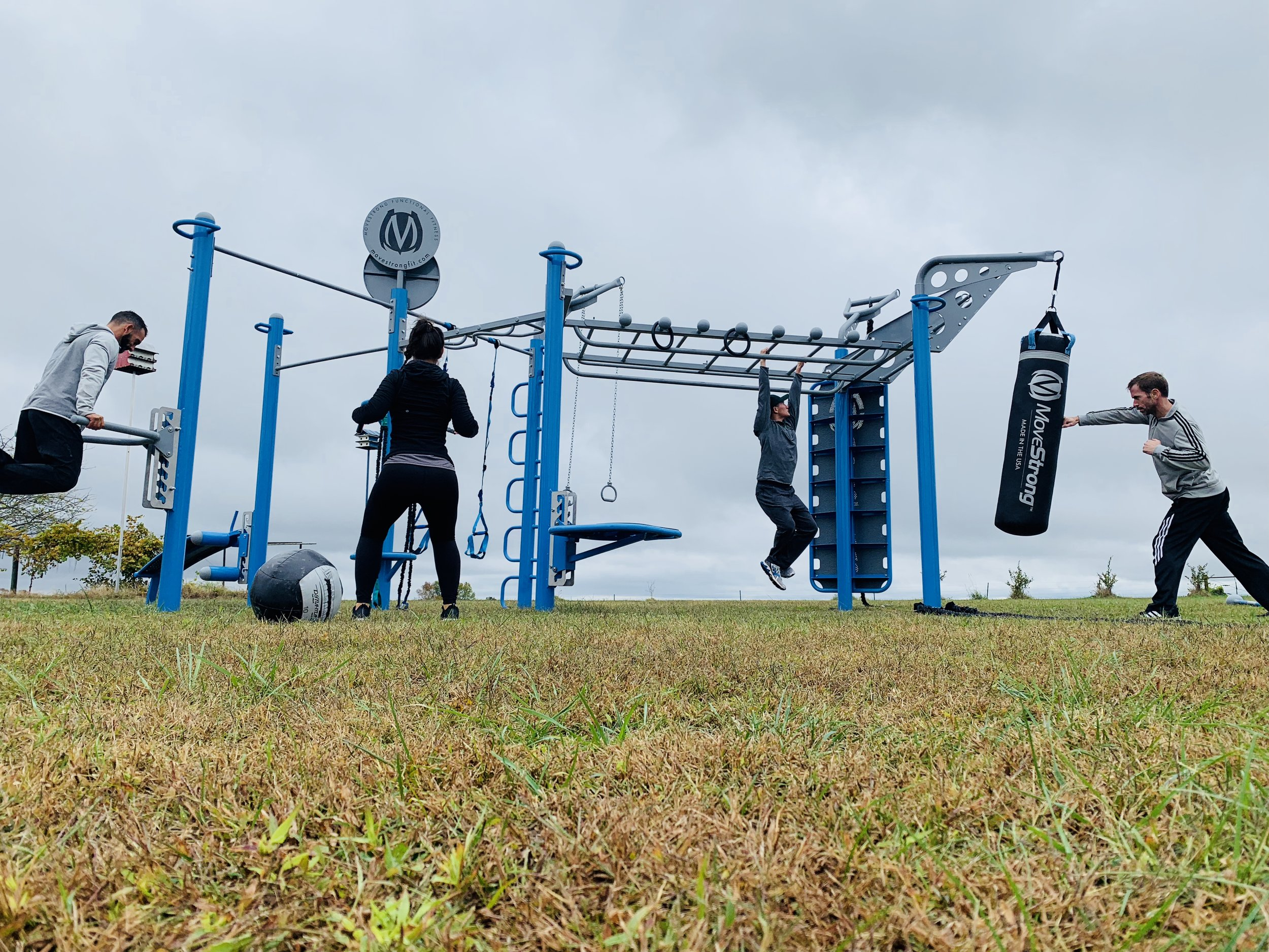 Outdoor group workout fitness bootcamp class