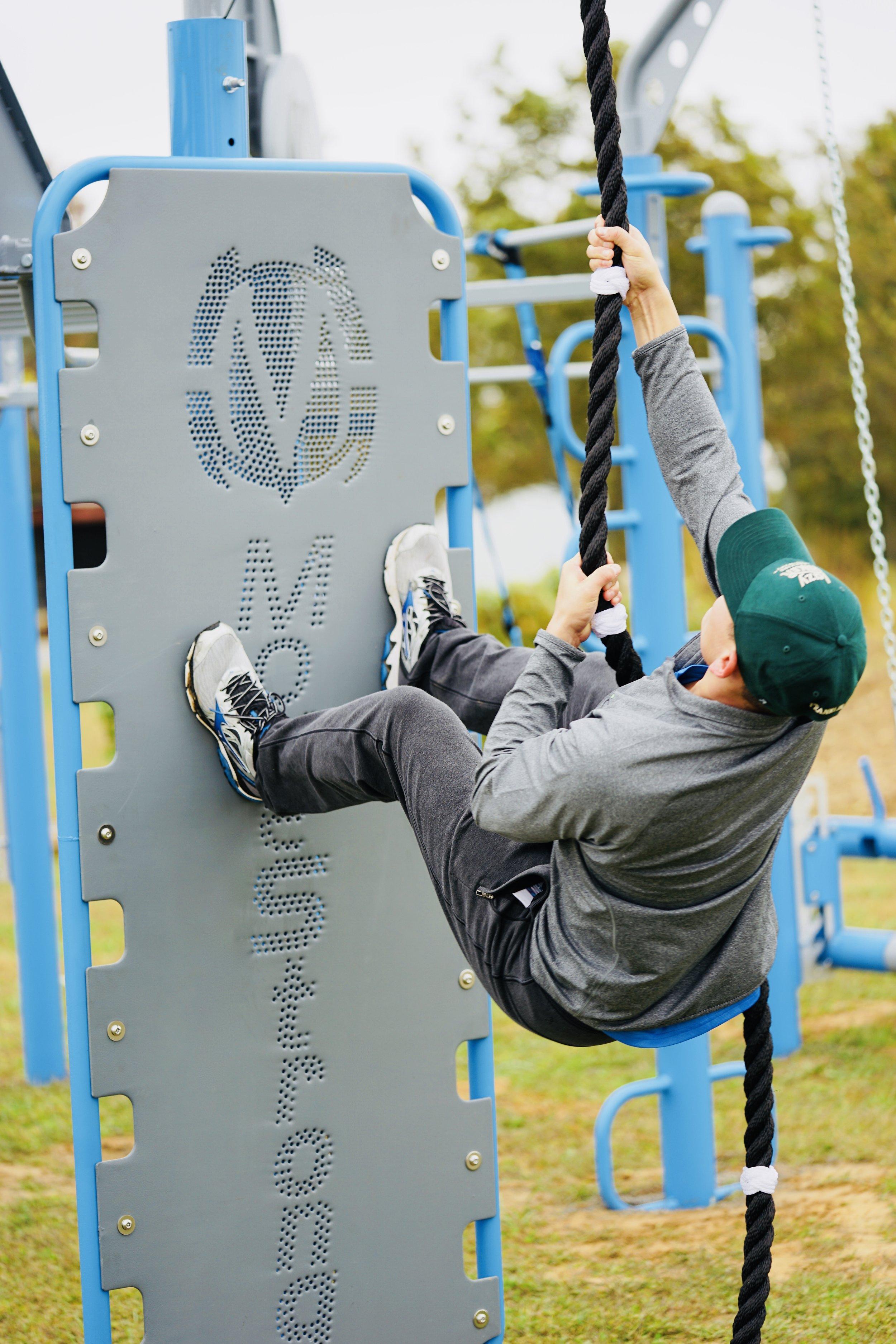 Outdoor rope climb