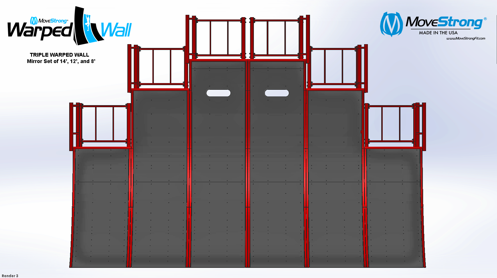 Double set-up of triple warped walls