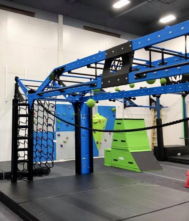 YMCA Ninja Warrior Training Room