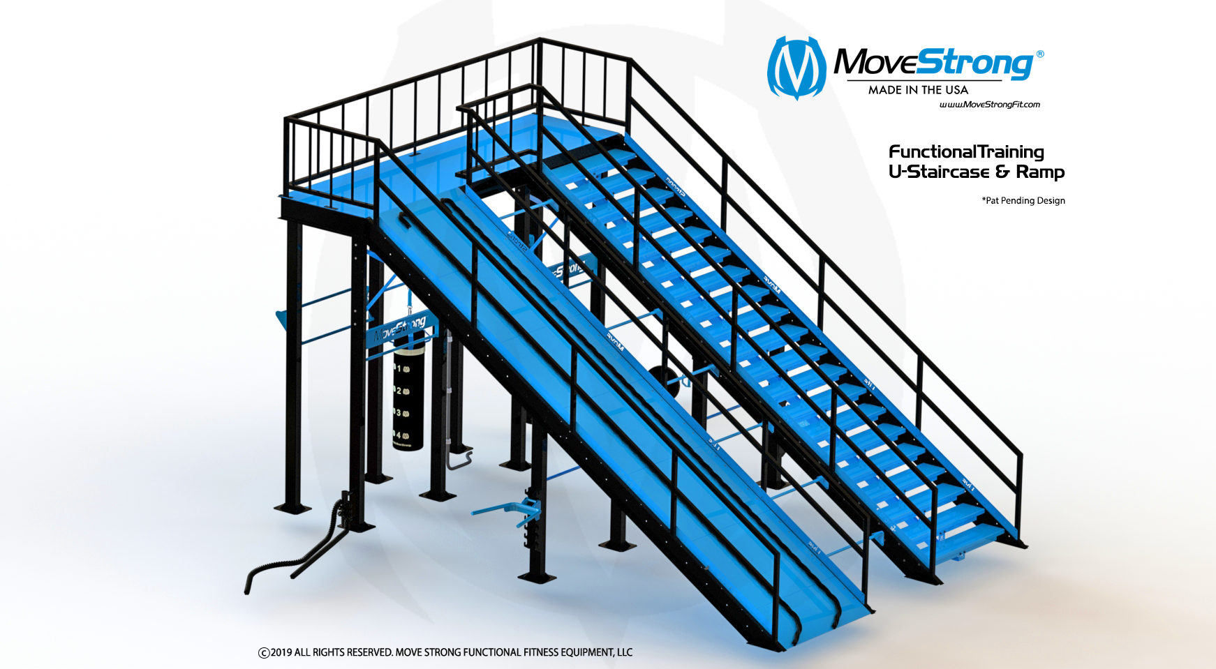Functional Training Station with Stairs and Ramp