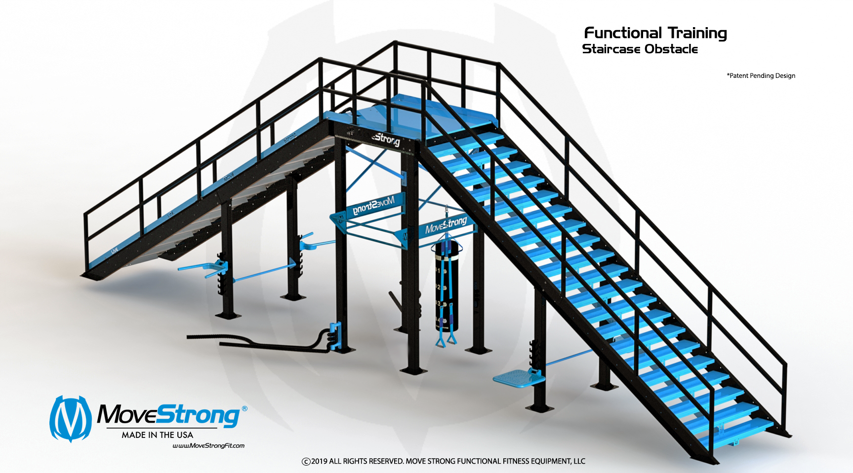 Functional Training Staircase With Ramp