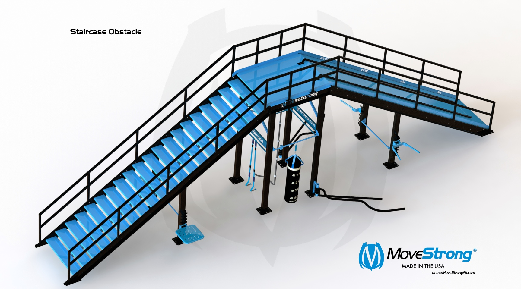 Obstacle Course Outdoor Equipment Stairs and Ramp