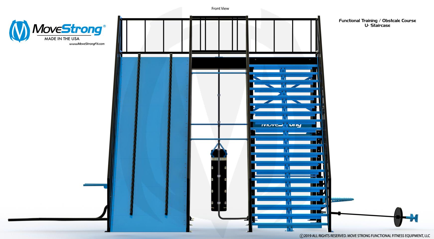U-Shape Fitness Staircase