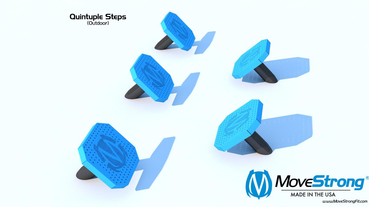 Five Angled Plyometric Steps