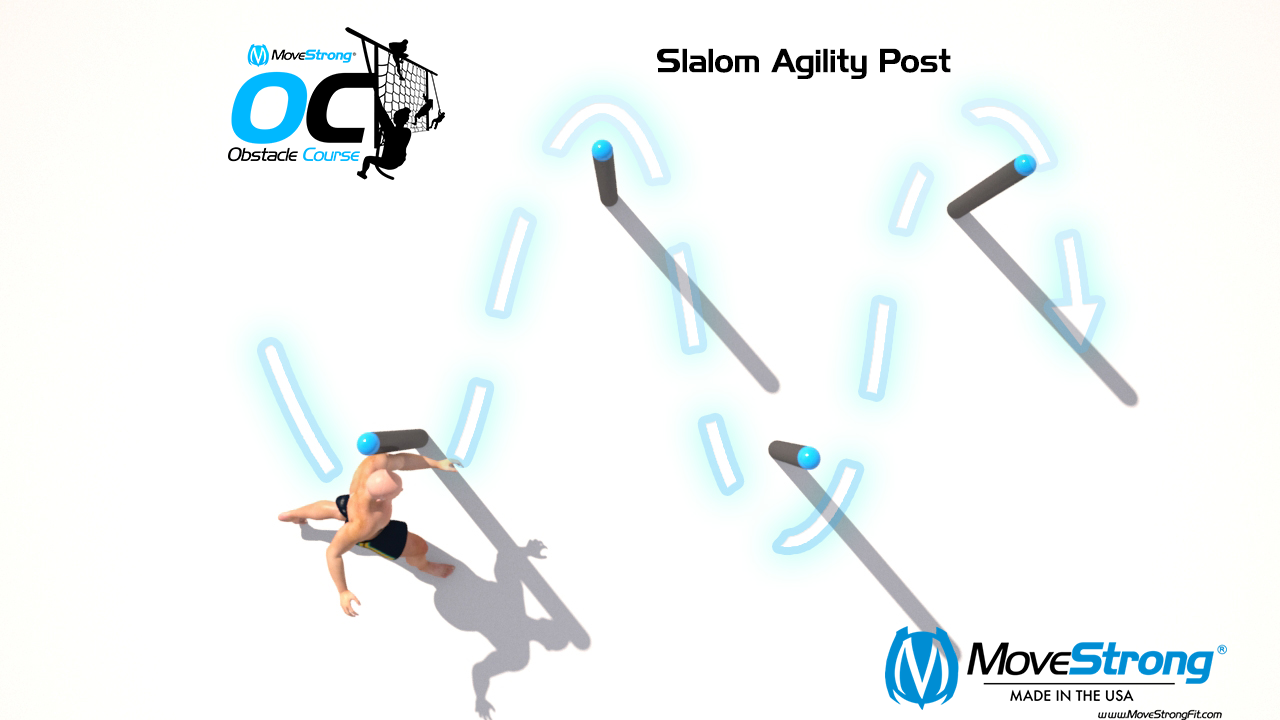 Slalom Post For Ability, Speed, and Power