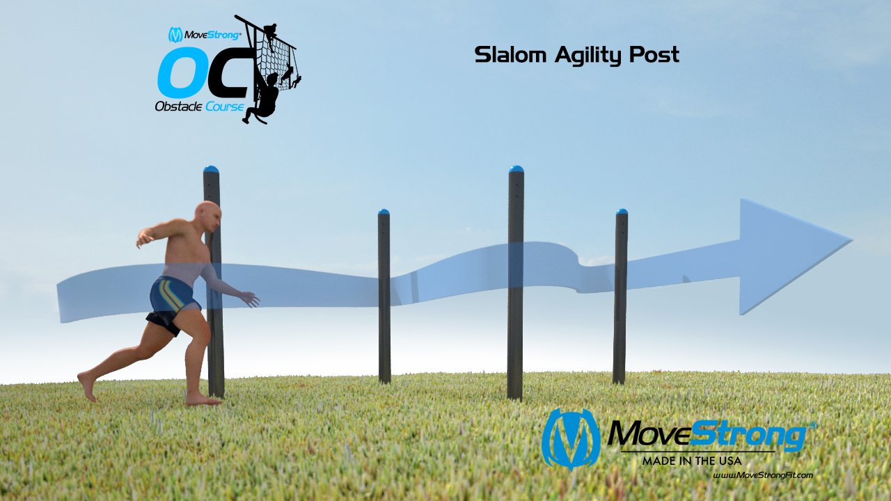 Slalom Outdoor Obstacle Course Station