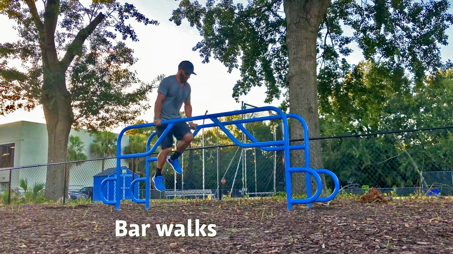 Parallel bar walk outdoor fitness equipment