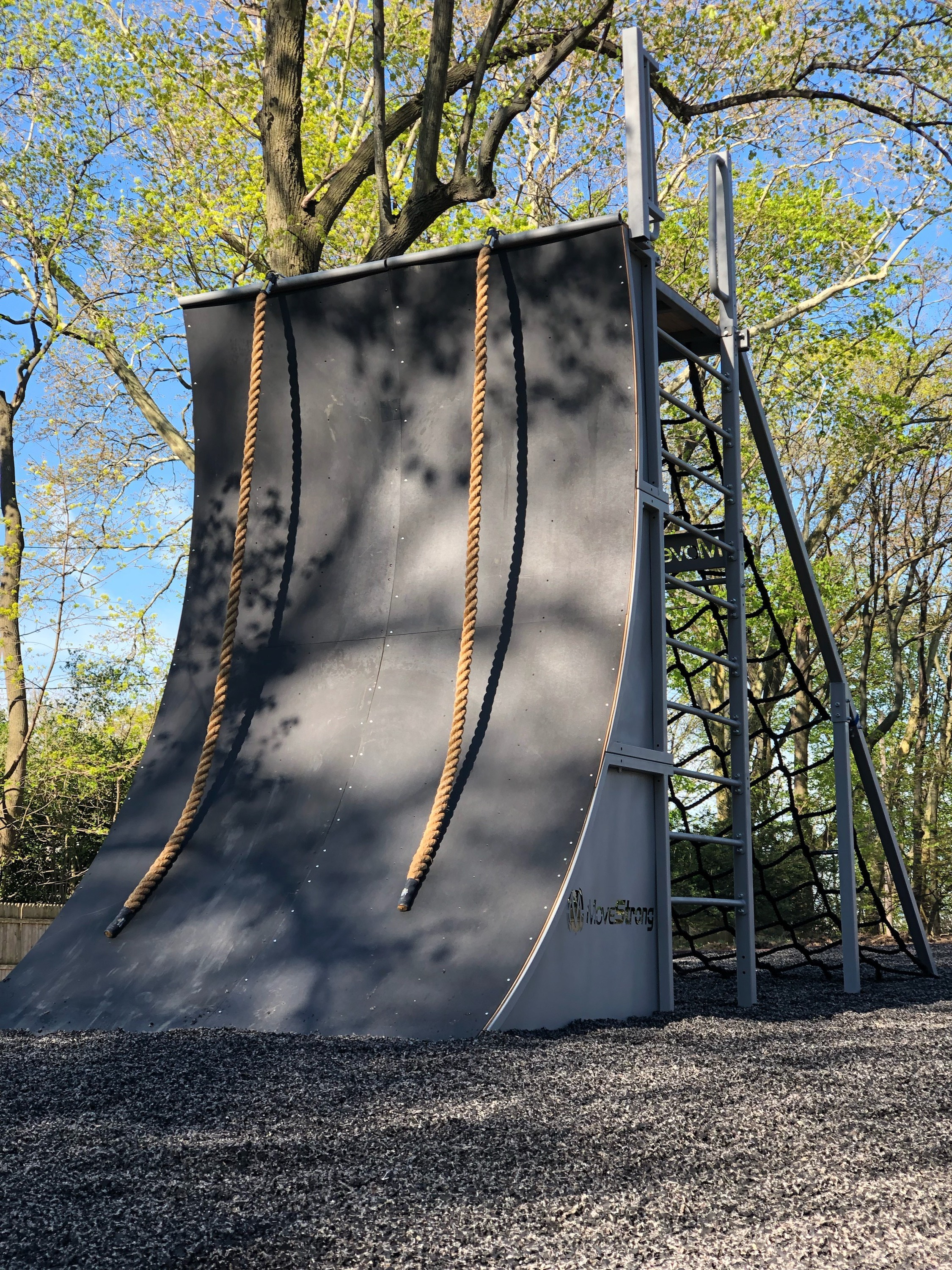 Warped Wall Outdoor Obstacle Course Equipment