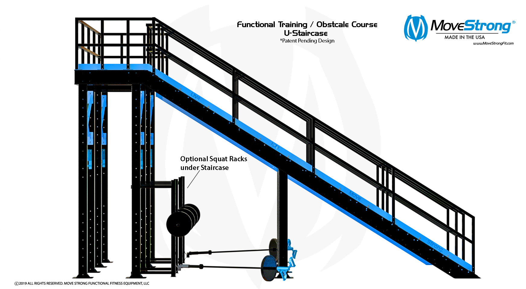 Functional Training Staircase and Squat Racks