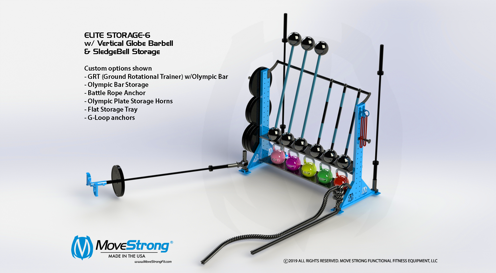 MoveStrong Elite Storage-6 Tall Tray accessories