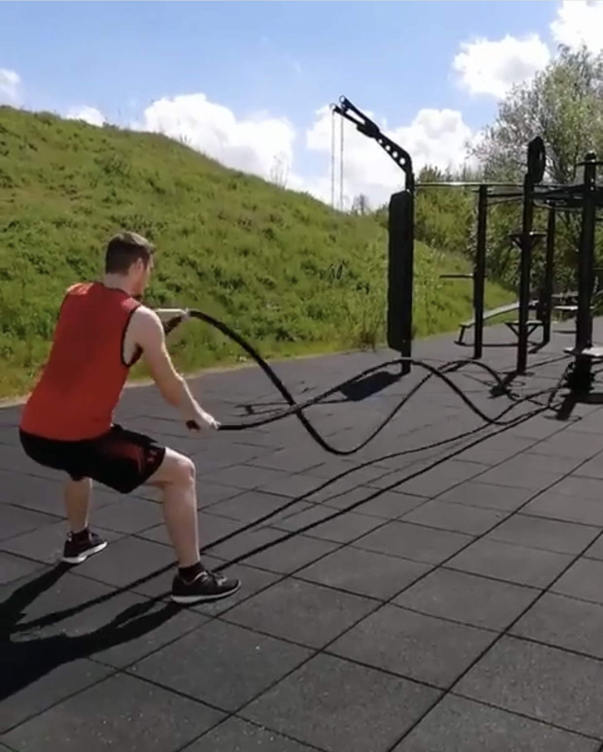 Outdoor Battle Rope Station