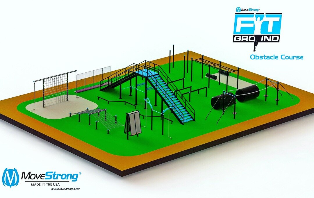Law Enforcement Training Center Indoor Obstacle Course Design With MoveStrong Functional Fitness Equipment