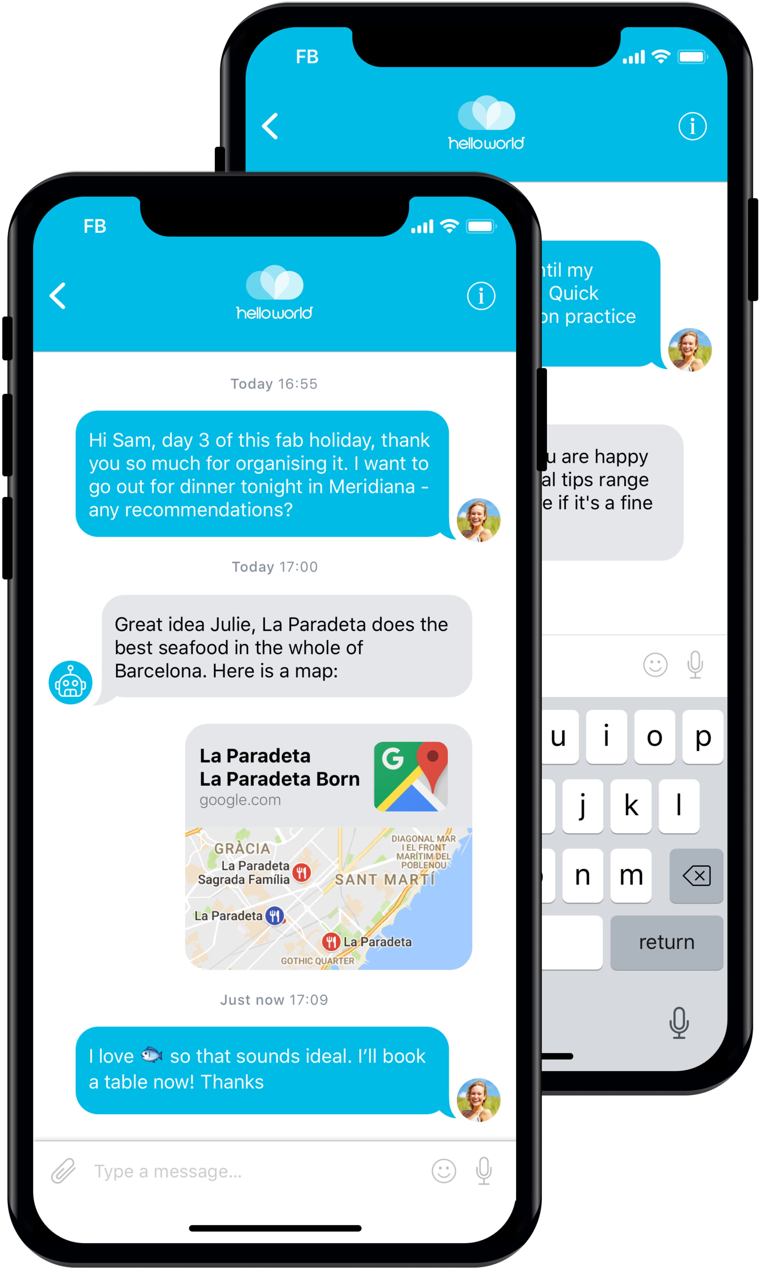 Clever Bot - A virtual assistant within Helloworld's app that helps travellers by making their travel (instead of flight) experience more intuitive and simple.