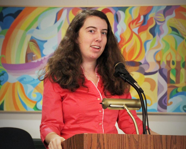 Megan McDermott ('14-'15) speaking about food justice.
