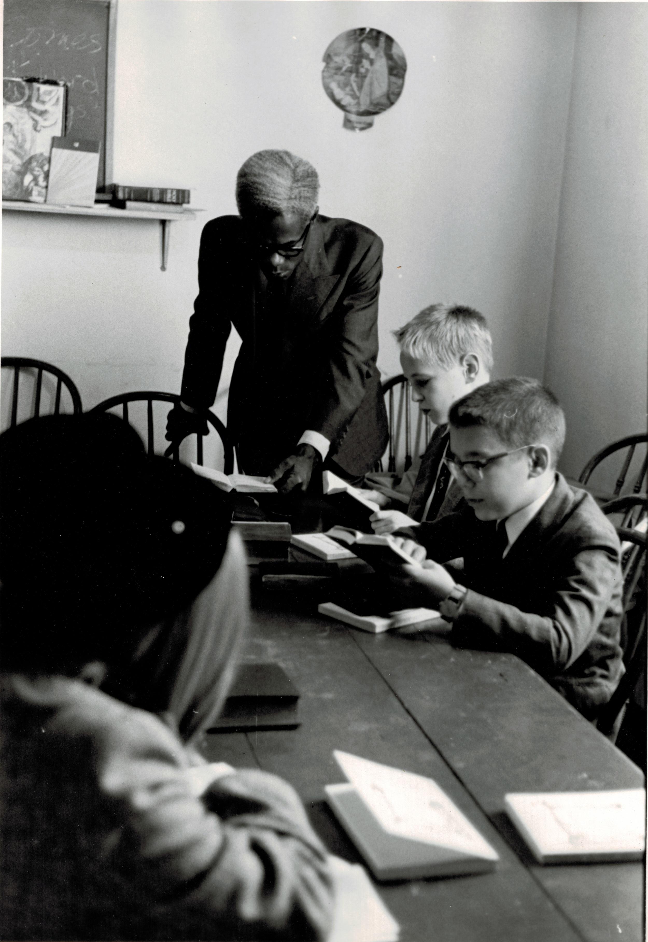 Albert Powell teaching Sunday School, 1962.