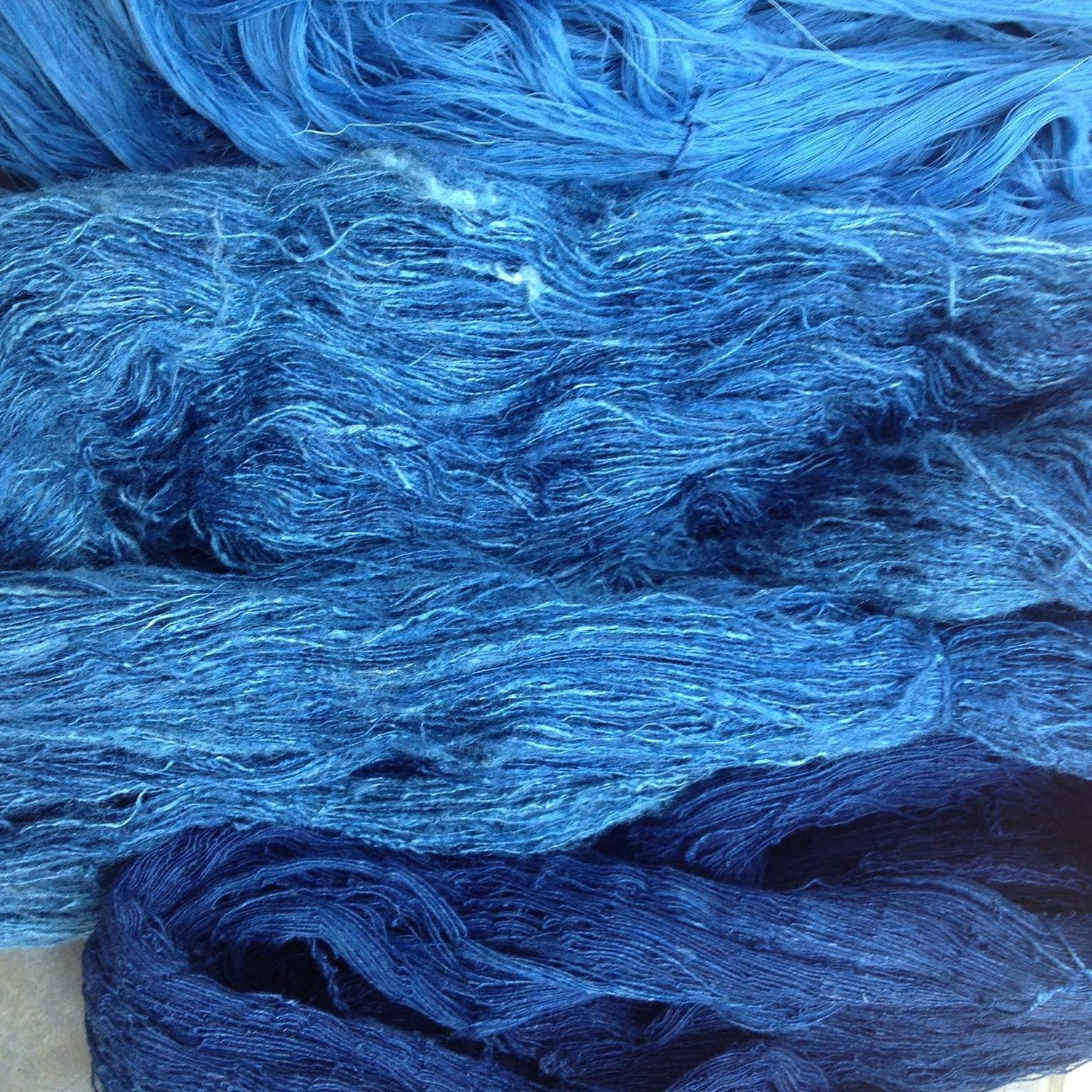 Indigo cotton thread.