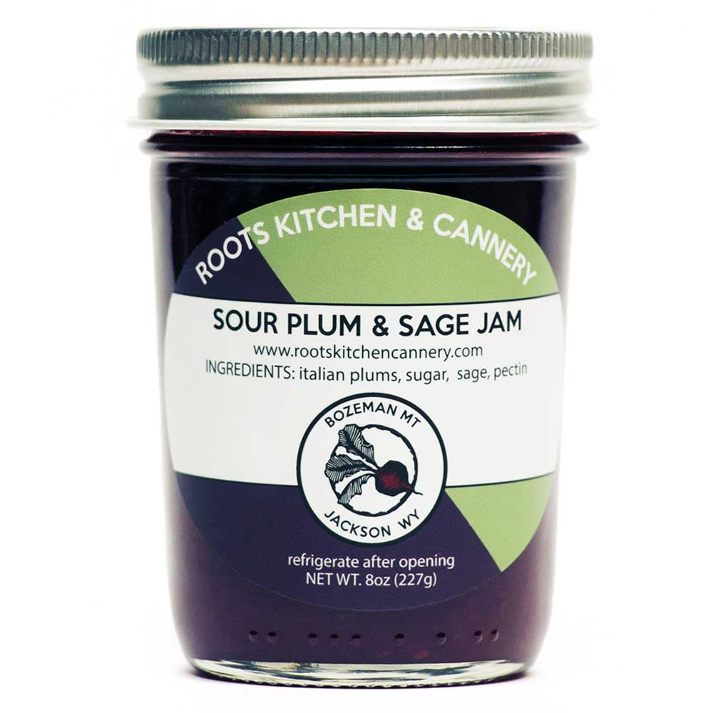 Sour Plum & Sage Jam - This Roots favorite is deliciously tangy with a hint of earthy autumn sage. Made with local Italian plums!