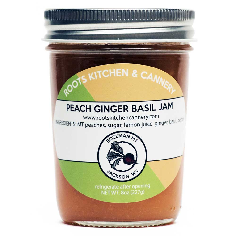 Peach Ginger Basil Jam - The sweetest peach + the spiciest ginger + delicious fresh basil = the taste of summertime in a jar.