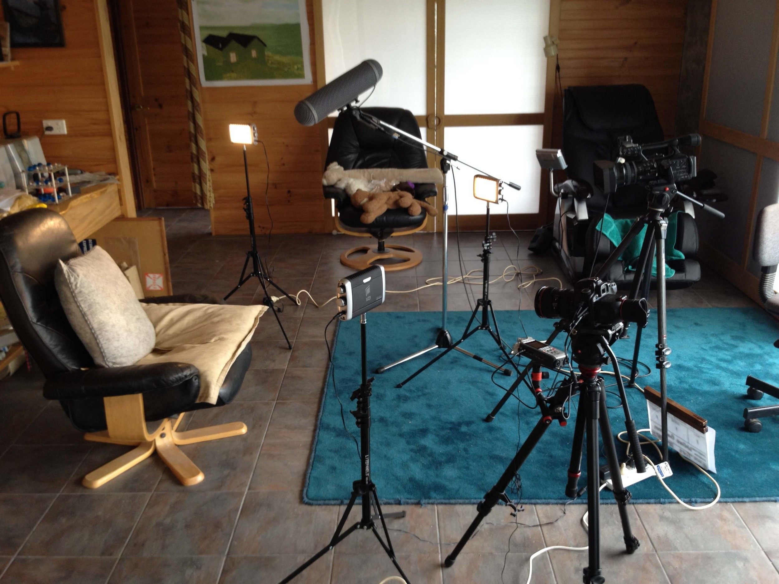 A typical setup for the interview