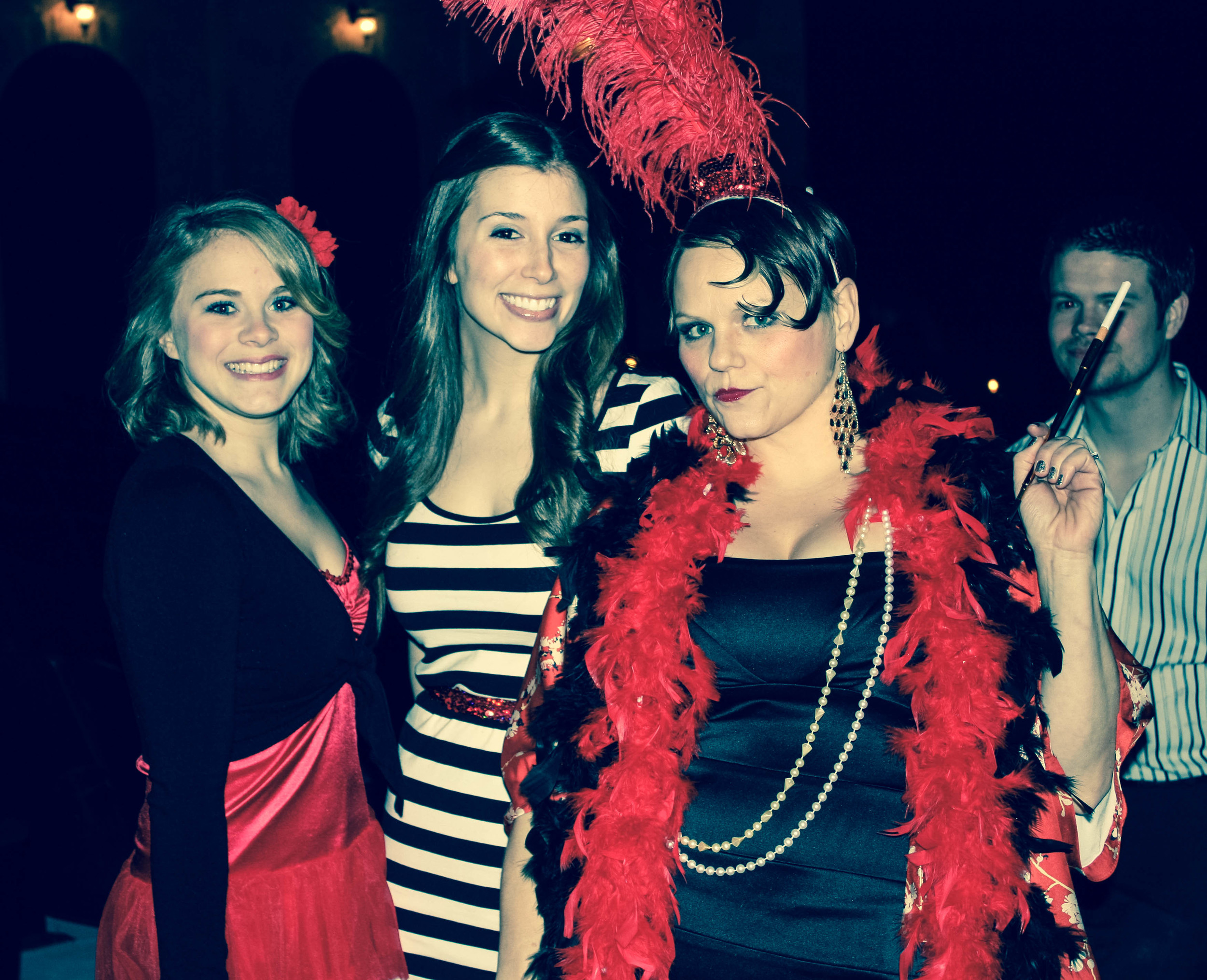 Boom Boom Becki (left) and her prison inmate friends