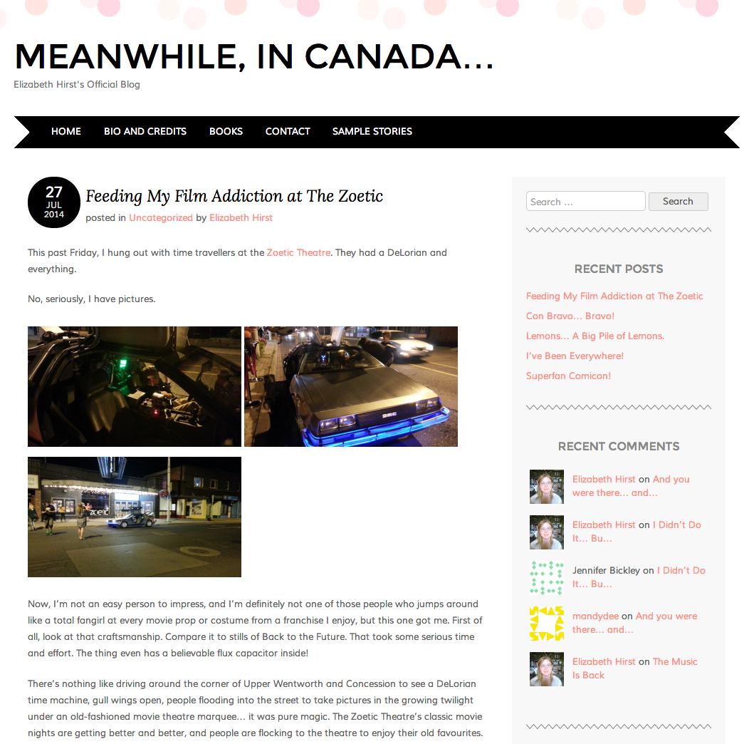 Elizabeth Hirst's Official Blog