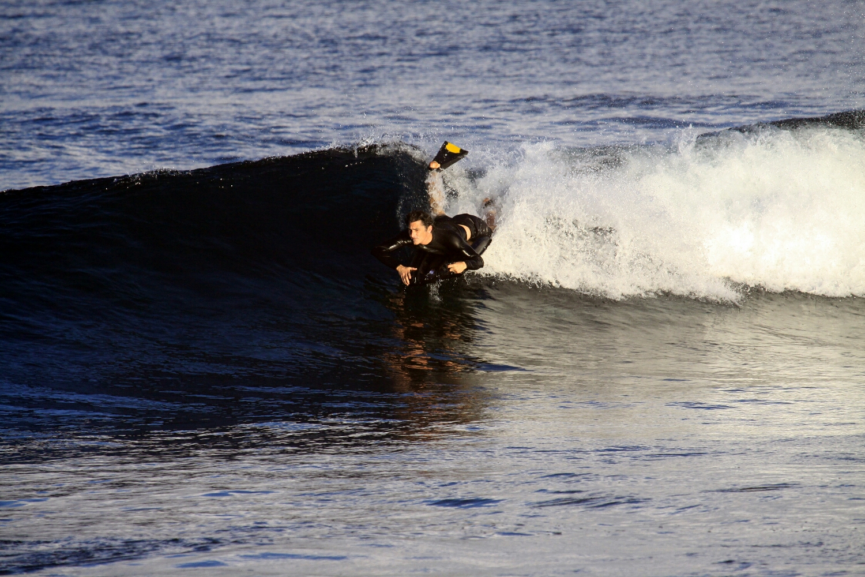 Jason riding his G-Mat Ubercat in Rapa Nui