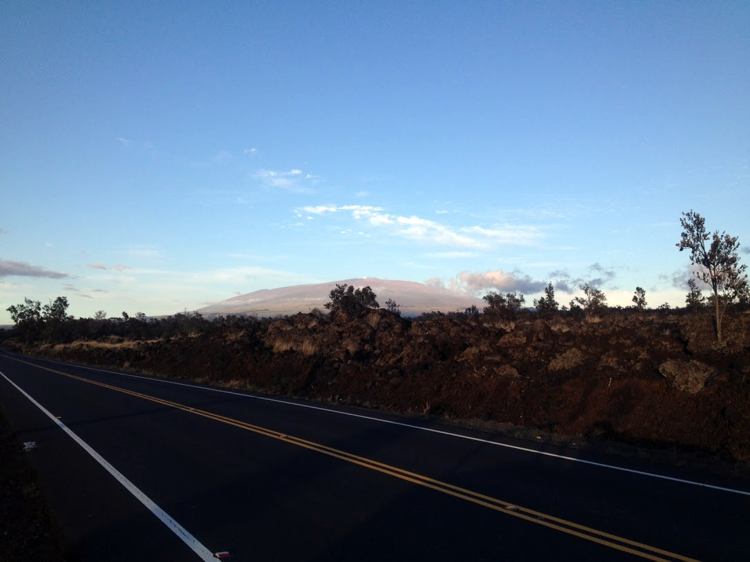 Looking East (Mauna Kea (13,700ft.) Observatory, Mamalahoa Hwy, Kohala