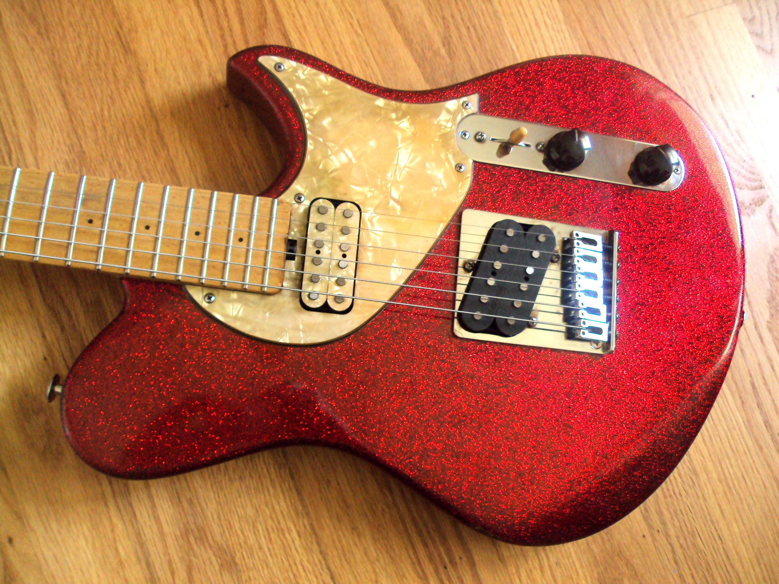 "This guitar has now been ""aged"" for a bit of relic appeal"