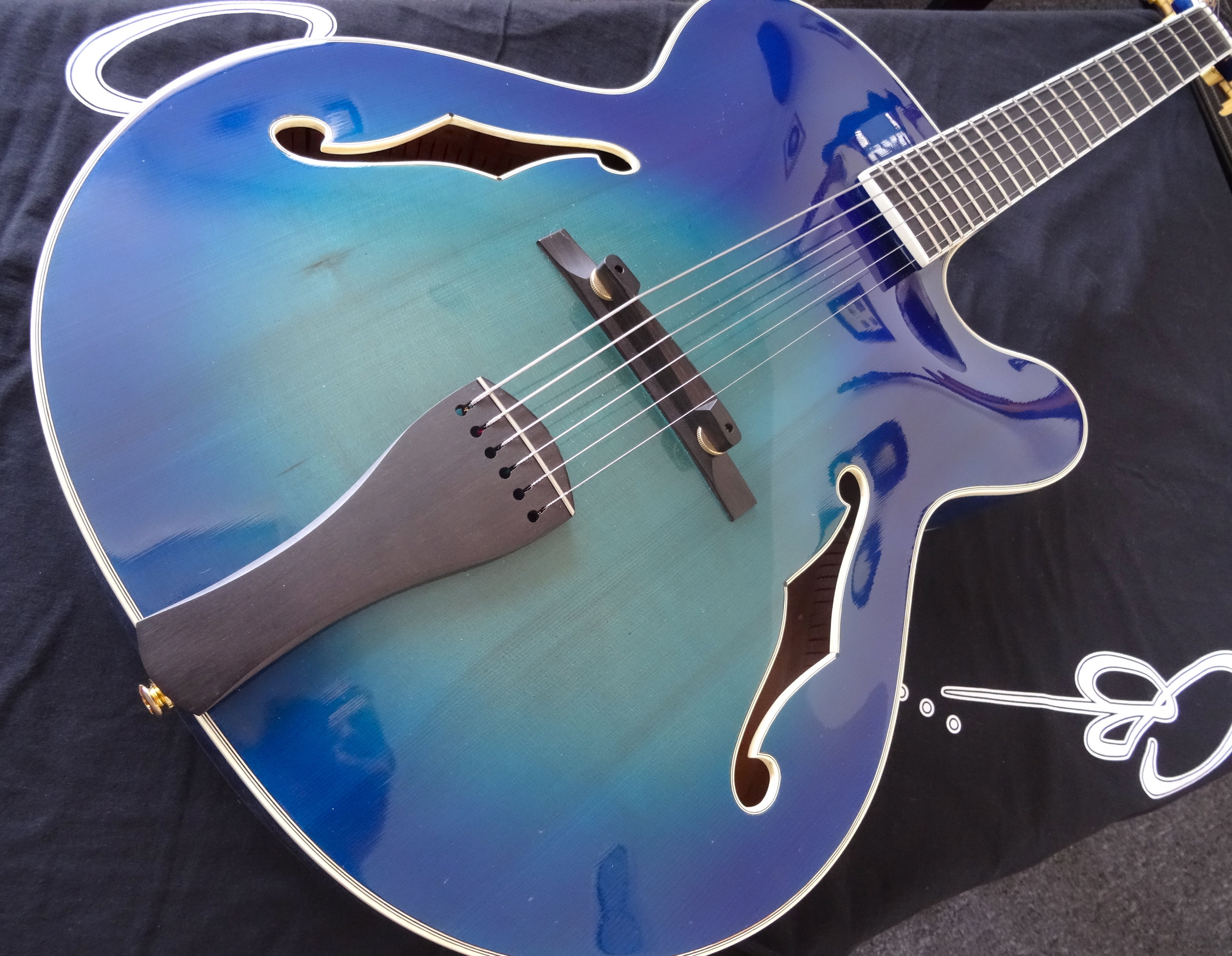 """Big Blue"" 17"" Regatta Archtop  Pre-Owned   $3600  with custom gig bag"