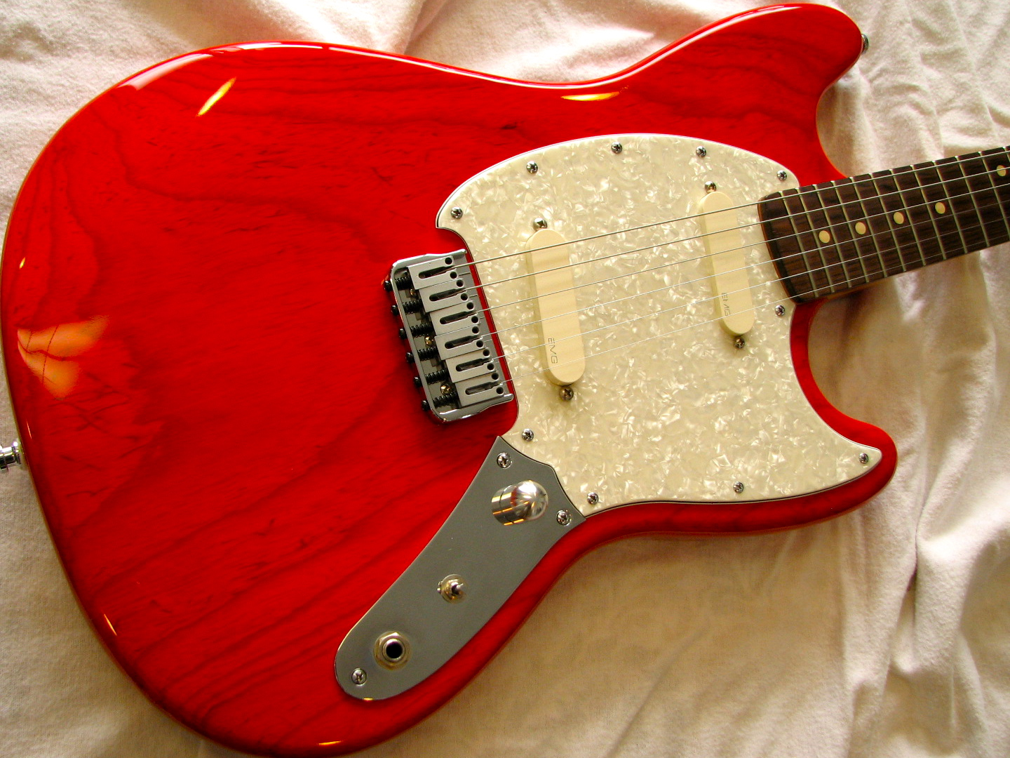 This was a custom one-off Musicmaster-style guitar