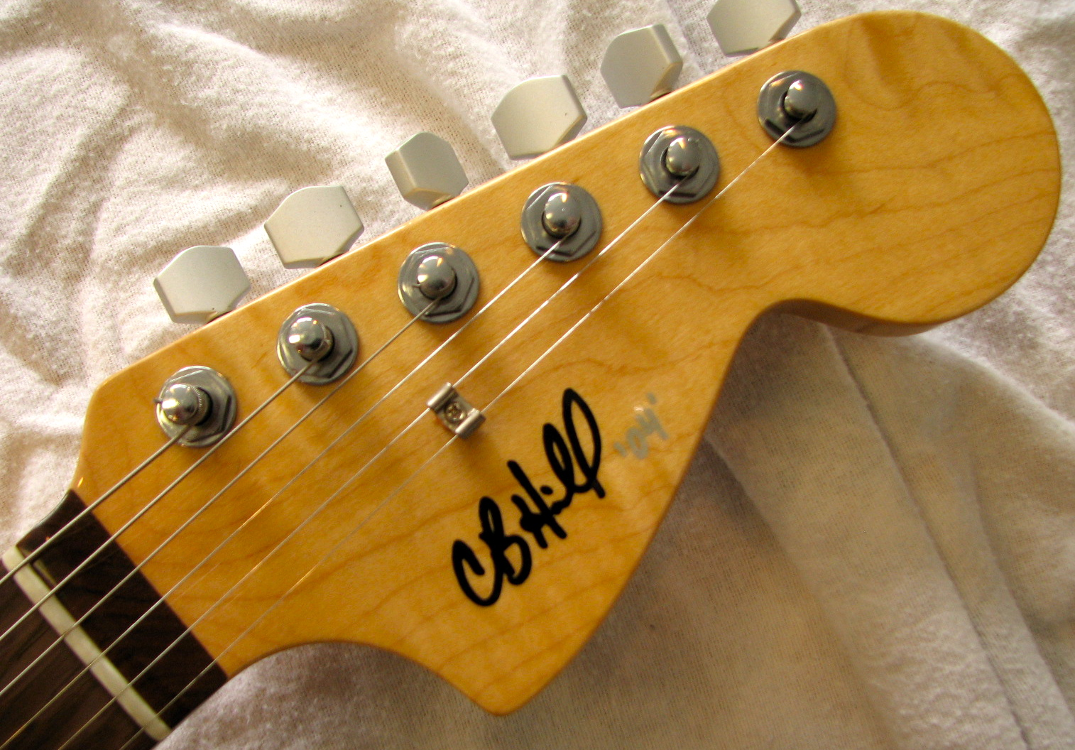 Neck and body by Warmoth, fit & finish by CB Hill
