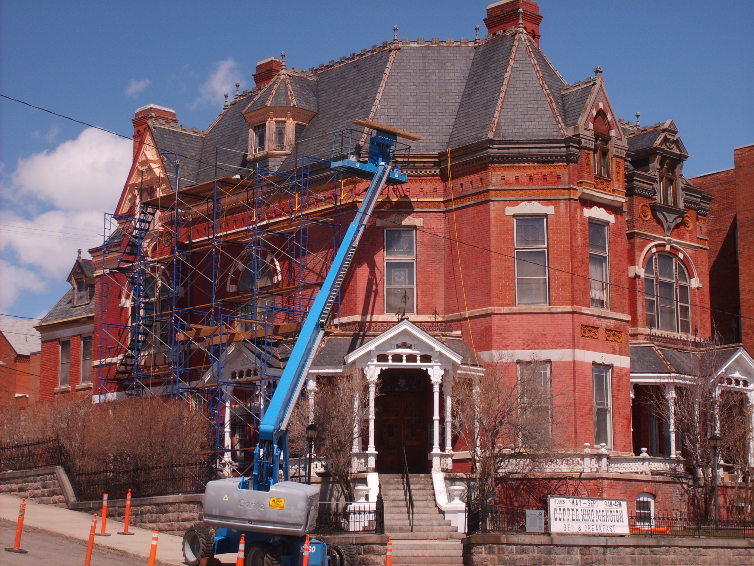 Beginning Mansion restoration