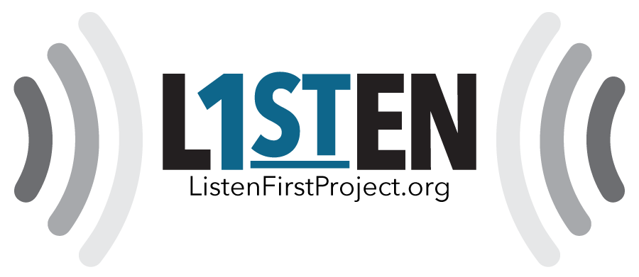 Listen First Project   Logo for a Non-profit Organization