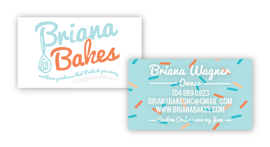 Greatest Story for Business: Whimsical Sprinkle Business Cards for BrianaBakes (www.brianabakes.com)