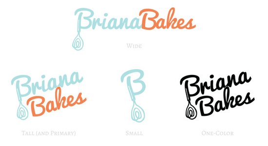 BrianaBakes Logo Variations Example by Greatest Story Creative