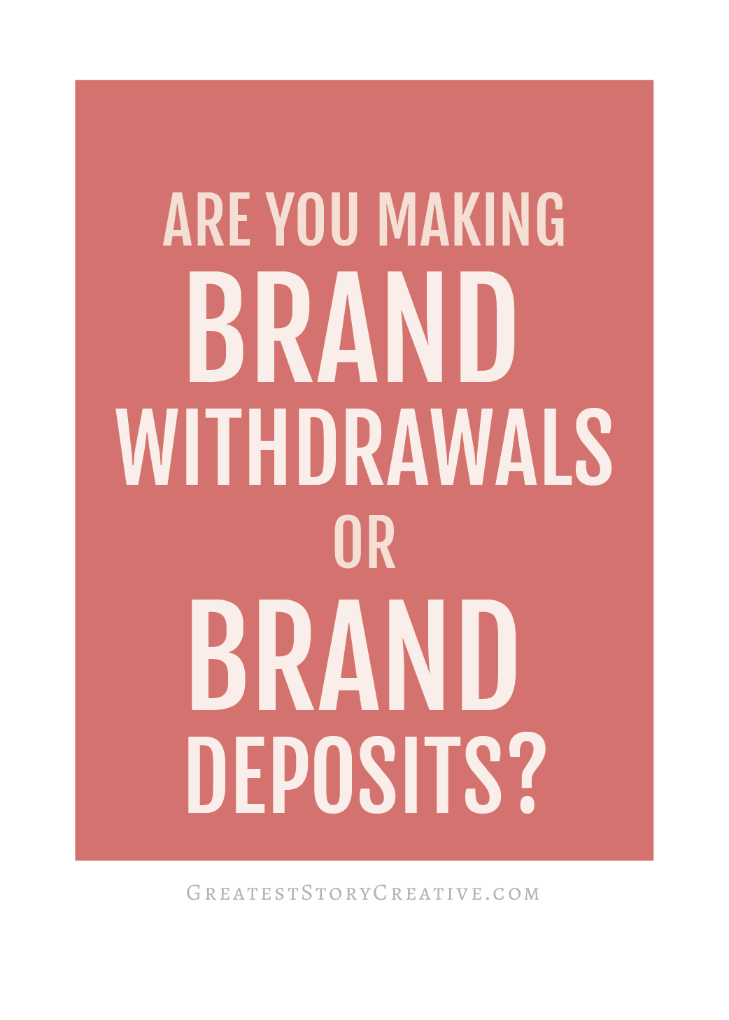 """Do you know if you're making """"brand deposits"""" or """"brand withdrawals""""? Lessons from Steve Jobs you can apply to your professional or personal life   Greatest Story for Business Blog"""
