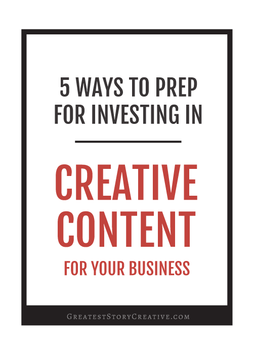 5 Ways to prep for Investing in Professional Photography or Professional Videography for a Small Business | Greatest Story Creative