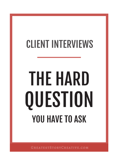 The Best And Hardest Question To Ask Past Clients | Annie Franceschi for Greatest Story Creative