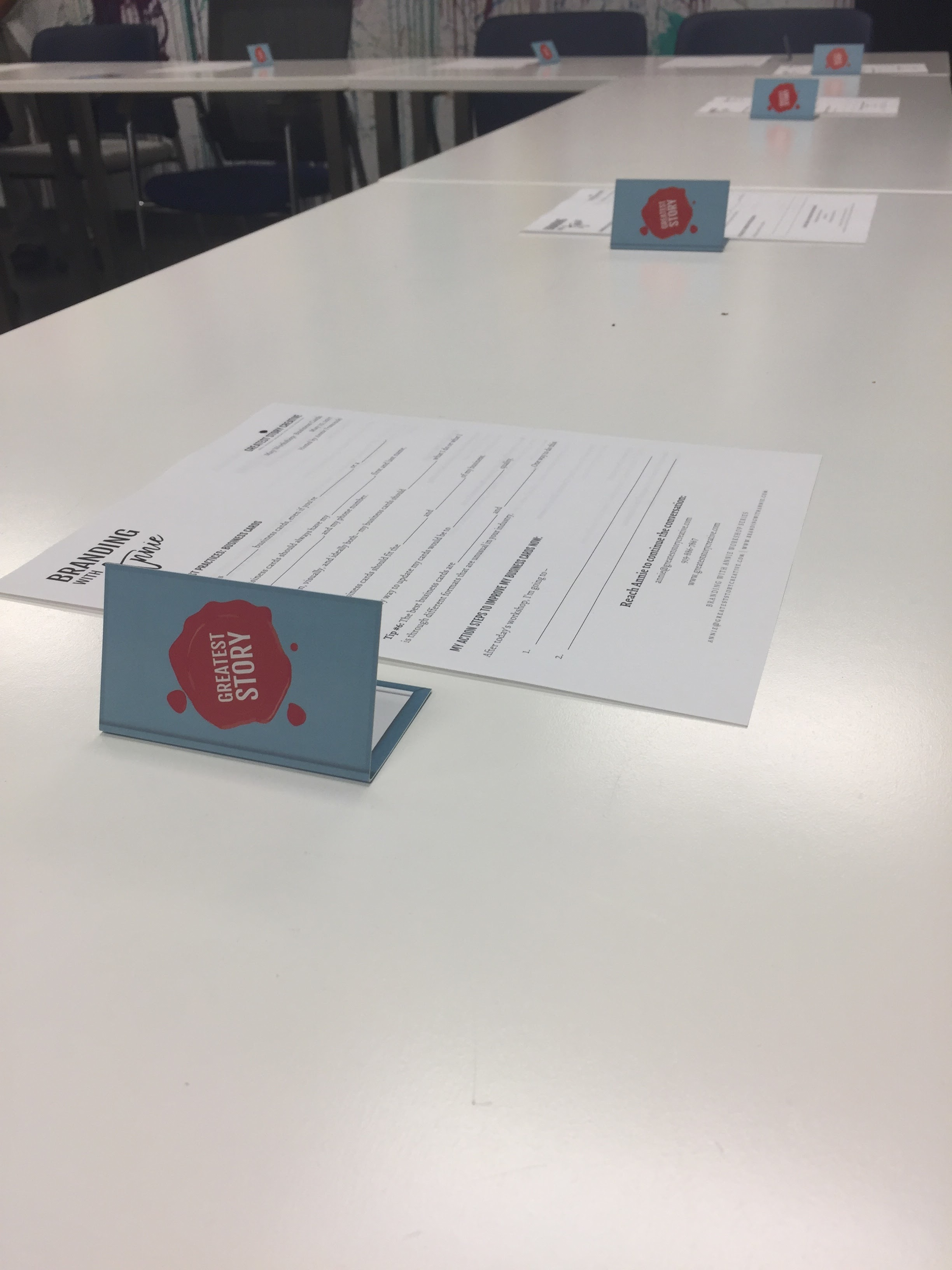 """Branding with Annie"" Business Card Workshop"