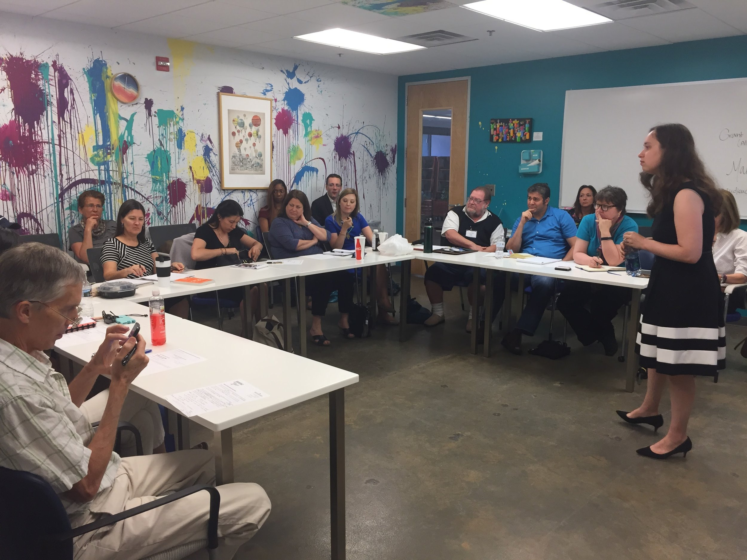 """Live Group Coaching at """"branding with Annie"""" - Raleigh-Durham Workshop for Business Owners - Recap by Annie Franceschi of Greatest Story Creative"""