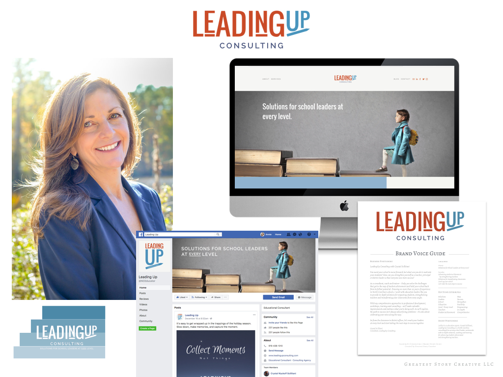 LeadingUp Consulting Branding by Greatest Story Creative