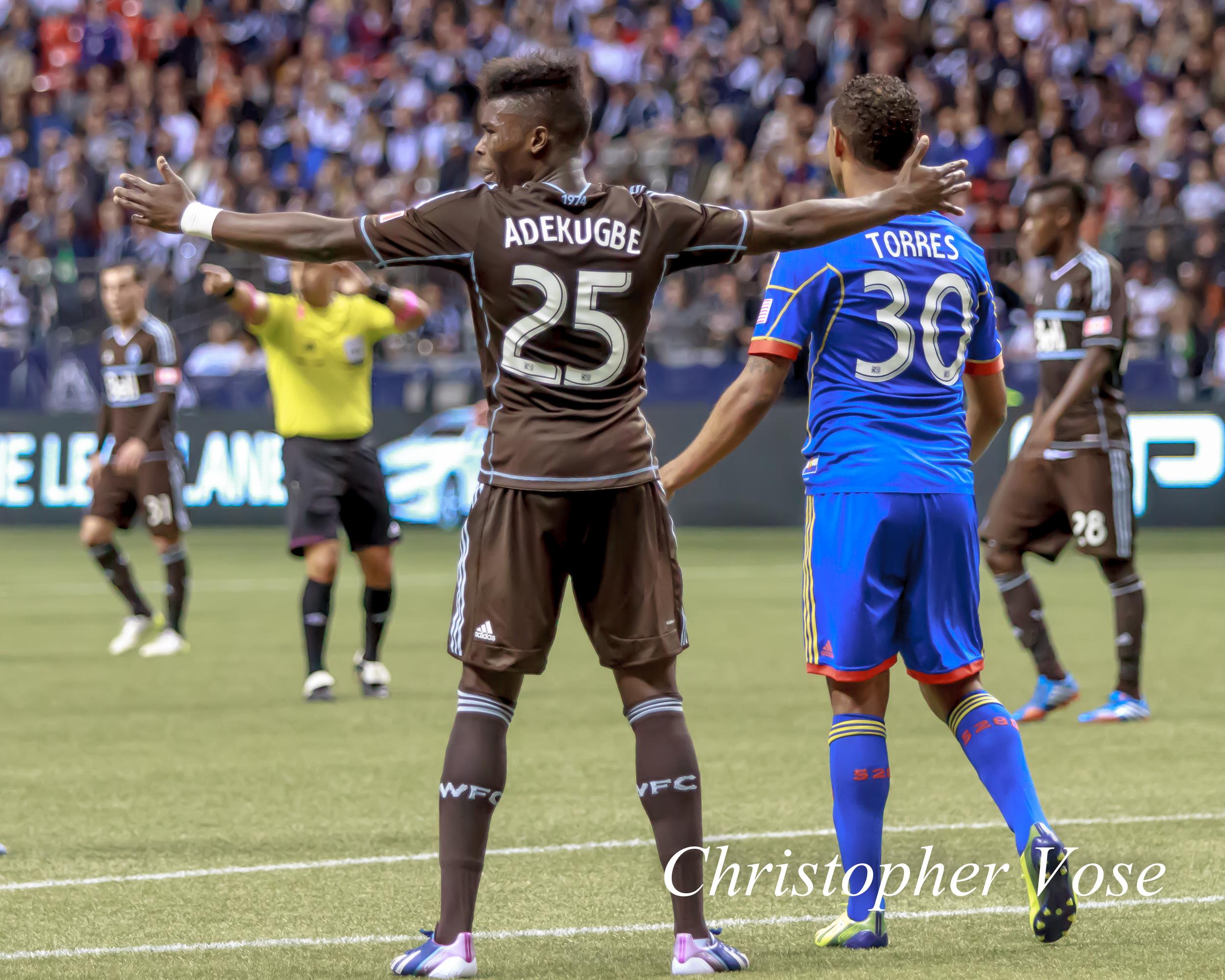 2013-10-27 Sam Adekugbe and Erick Torres.jpg
