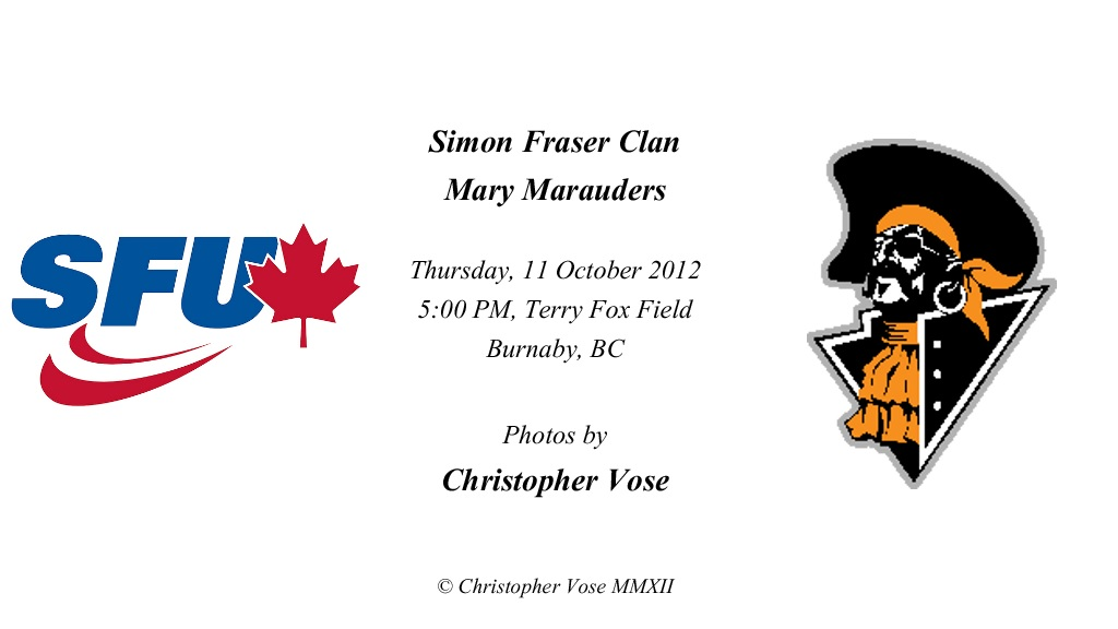 2012-10-11 Round 8; Simon Fraser Clan v Mary Marauders.jpg