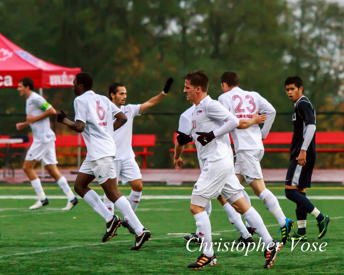 2012-11-04 Justin Wallace Goal Celebration.jpg
