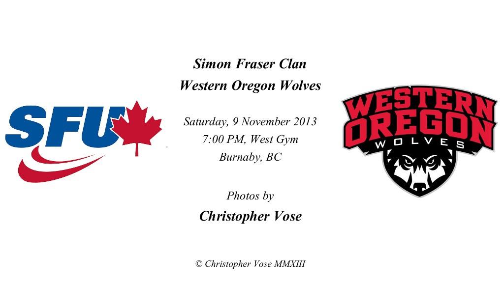 2013-11-09 Round 14; Simon Fraser Clan v Western Oregon Wolves.jpg