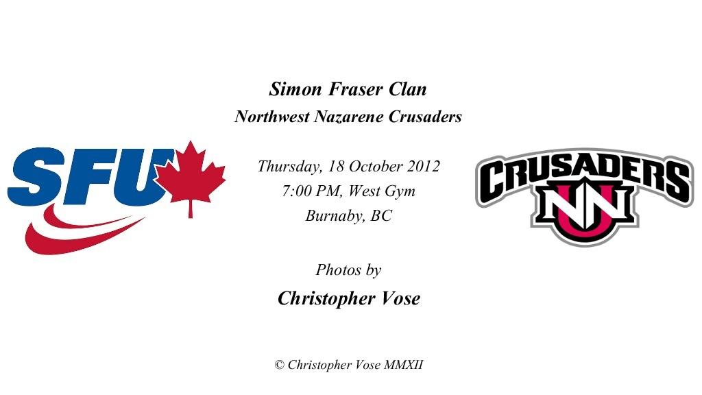 2012-10-18 Round 18; Simon Fraser Clan v Northwest Nazarene Crusaders.jpg