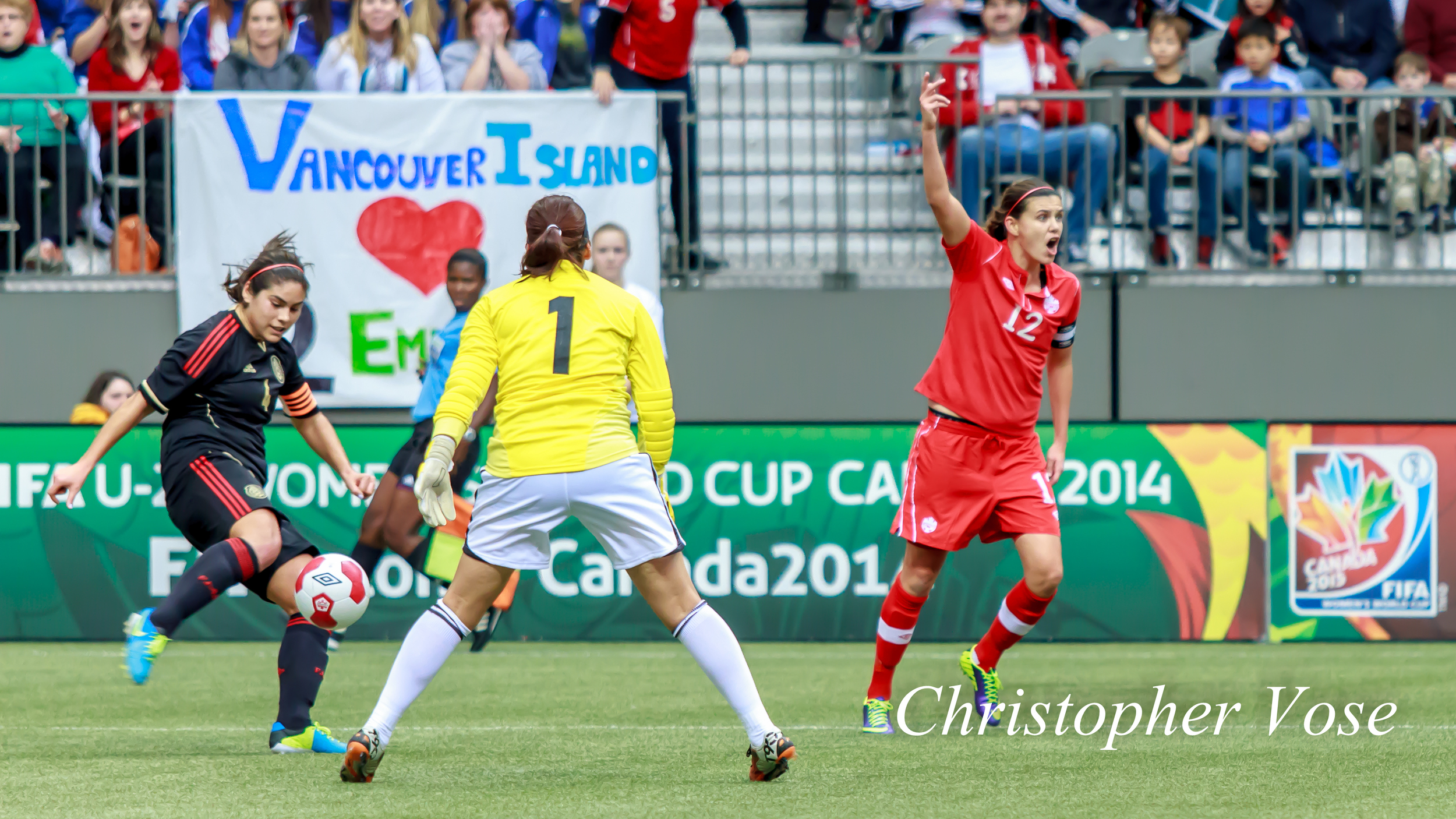 2013-11-24 Alina Garciamendez and Christine Sinclair-2.jpg