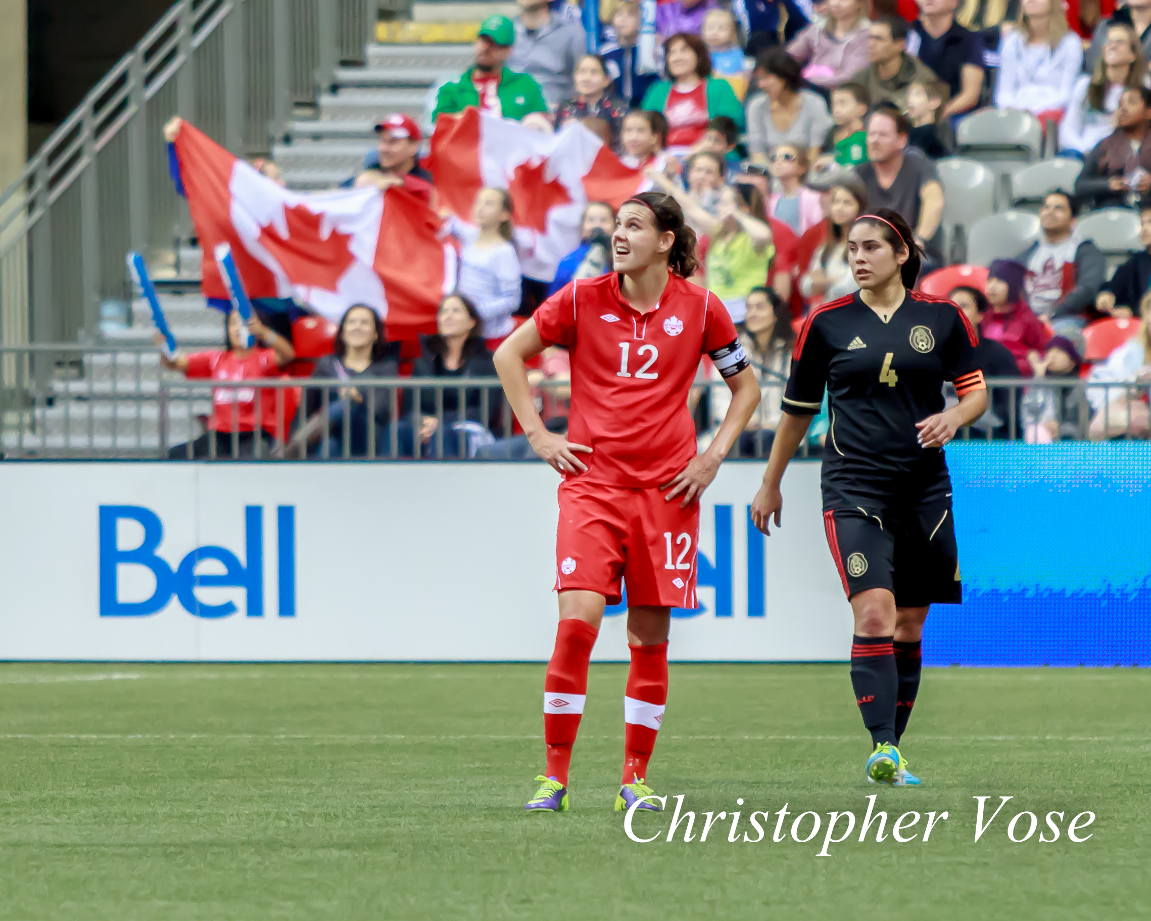 2013-11-24 Christine Sinclair and Alina Garciamendez-2.jpg