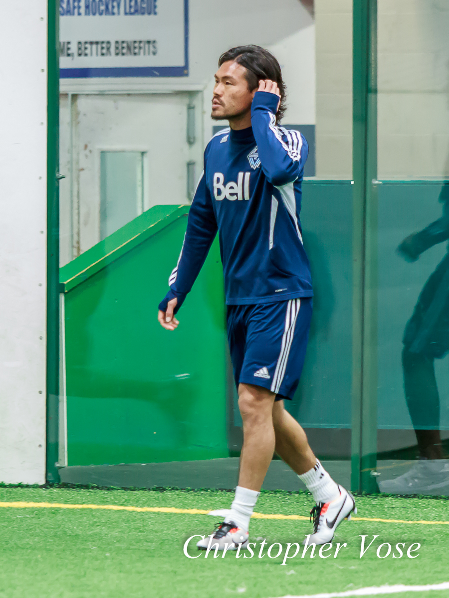 Kobayashi Daigo dons the blue and whit of Vancouver Whitecaps FC at Burnaby 8 Rinks on 28 January 2013.